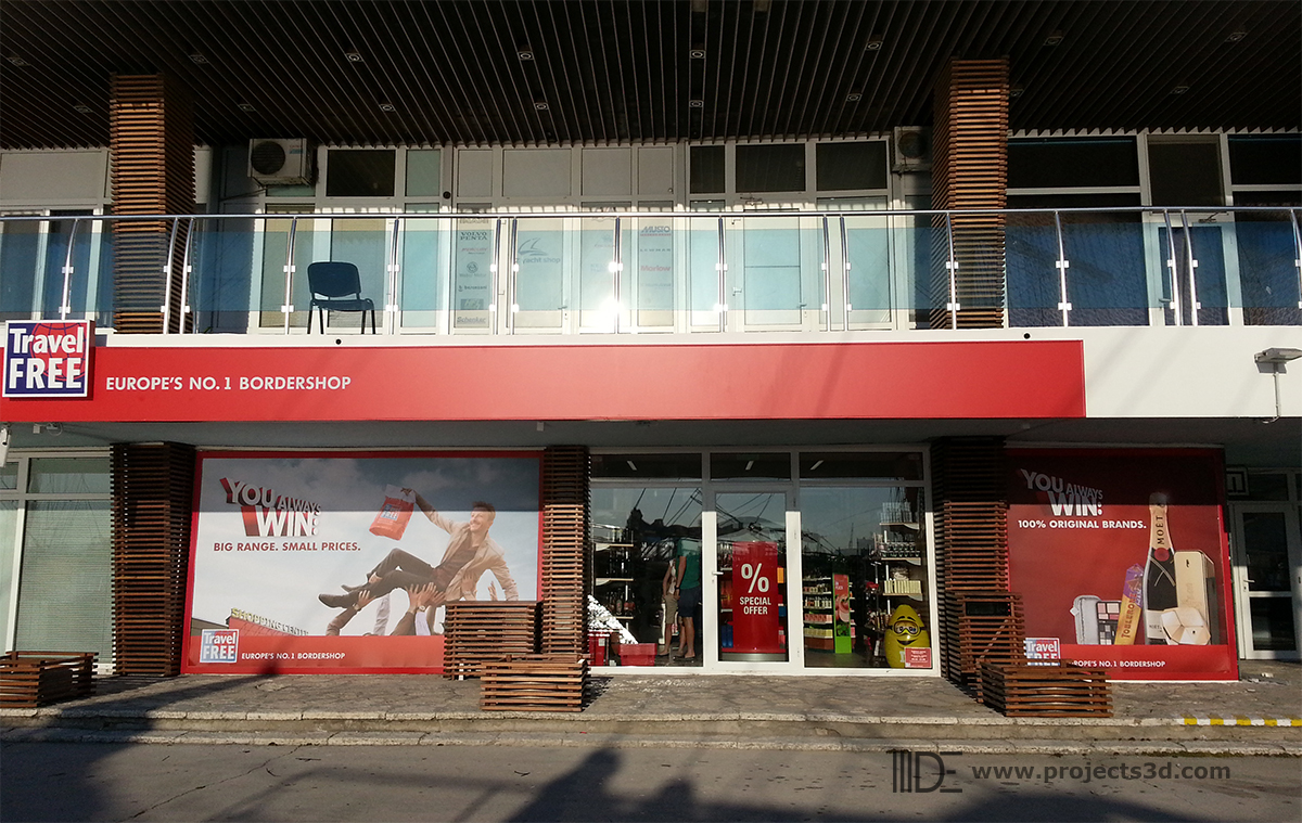 Interior and exterior of a store – Port Varna