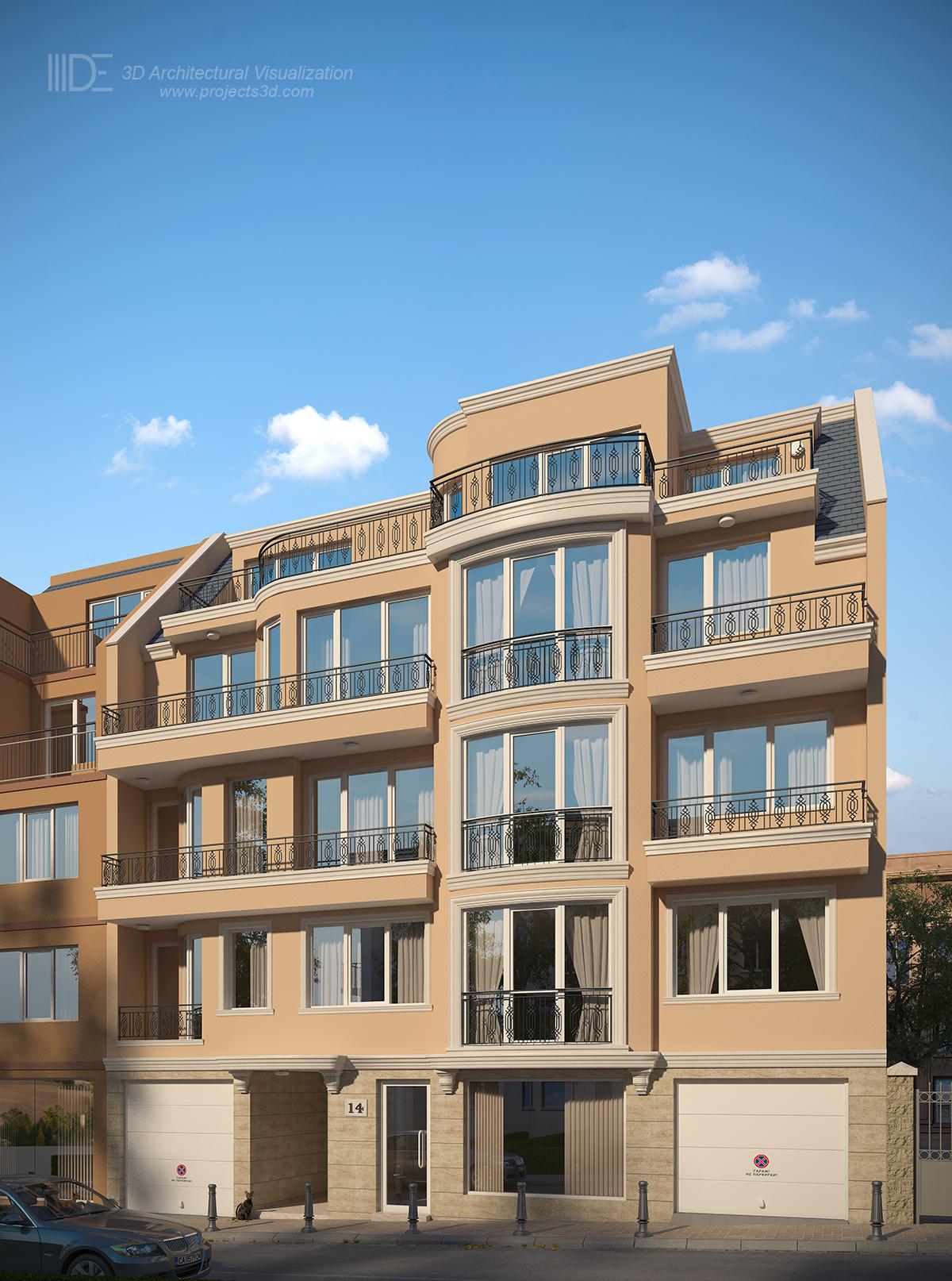 3Д Архитектурна визуализация на класическа сграда в гр.Варна